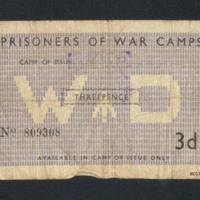 Prisoner of war money vouchers